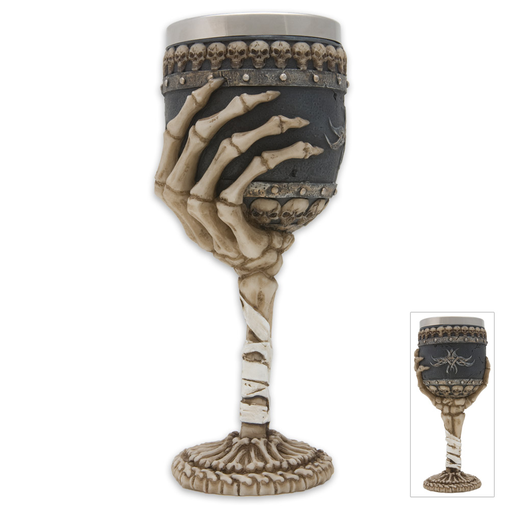 Skull Bones Gothic Wine Goblet New Halloween Witch Goth Ebay